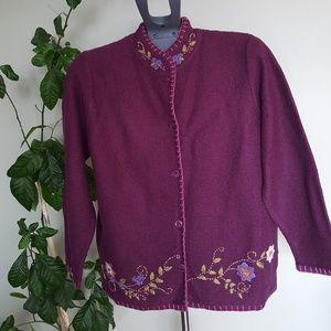Vintage 100% wool oversize cardigan